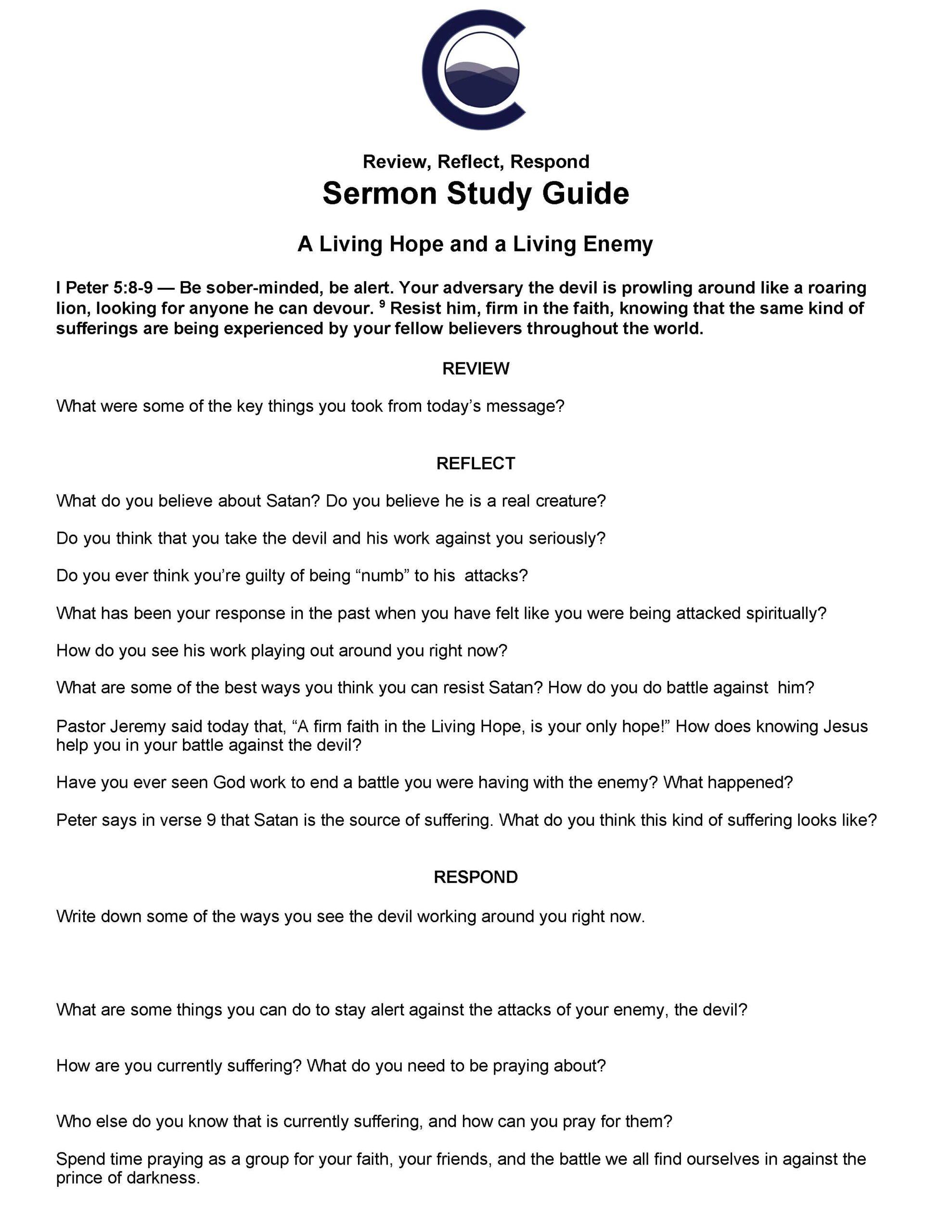 Sermon Study Guide